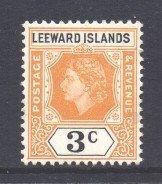 Leeward Is Scott 136 - SG129, 1954 Elizabeth II 3c MH*