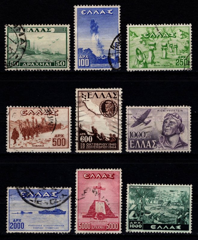 Greece 1946 Victory, War Scenes, Set [Used]