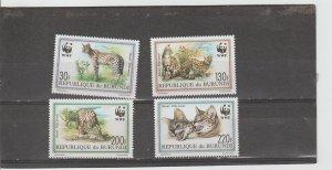 Burundi  Scott#  681-684  MNH  (1992 Serval)