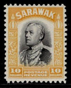 SARAWAK GV SG125, $10 black & yellow, M MINT. Cat £35.