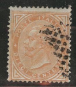 Italy Scott 27a Orange Brown King Victor Emmanuel CV$5 1863
