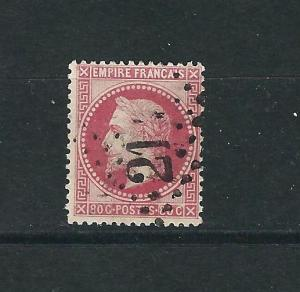 France 36 Y&T 32 Aigueperse Cds (21) Fine 1868 CV $33.00