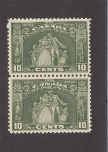 CANADA xxcc # 209 VF-MNH PAIR OF10cts LOYALIST STATUE CAT VALUE $160