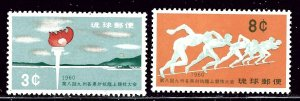 Ryukyu Is 72-73 MNH 1960 Sports    (ap2752)