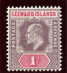 Leeward Islands 1902 KEVII 1d dull purple & carmine superb MNH. SG 21. Sc 21.