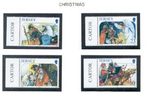 Jersey  Sc 773-76 1996 Christmas stamp set mint NH