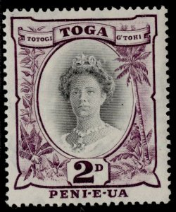 TONGA GVI SG76, 2d black & purple, M MINT. DIE II