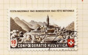 Switzerland Helvetia 1943 Early Issue Fine Used 10c. 263929