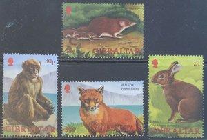 Gibraltar MNH 909-12 Wildlife Mammals 2002