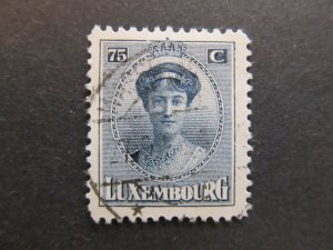 A4P27F79 Letzebuerg Luxembourg 1921-26 75c used