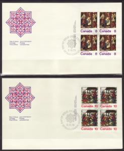 Canada 697-699 Christmas P/B 1976 Canada S/3 U/A FDC