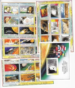 Sierra Leone: Sc #1167-1171, MNH, Space Related (S18874)