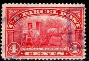 US Stamp #Q4 4c Carmine Rose Parcel Post USED SCV $3.00