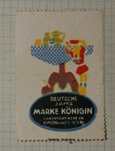 German Jams Konigin German Brand Poster Stamp Ads