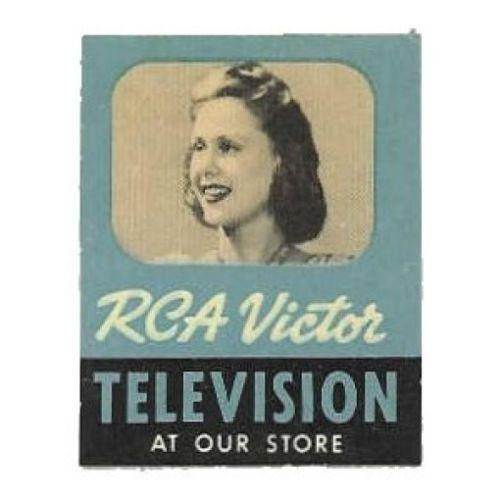 US - RCA Victor Television Advertising Poster Stamp