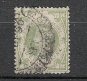 J26251  jlstamps 1887-92 great britain used #122 $ 72.50 scv a corner perf bend