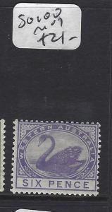 WESTERN  AUSTRALIA  (P2903B)  SWAN  6D    SG 100      MOG