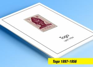 COLOR PRINTED TOGO 1897-1956 STAMP ALBUM PAGES (26 illustrated pages)