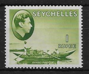 SEYCHELLES SG146 1r YELLOW-GREEN MTD MINT