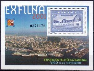 Spain. 2001. bl98. Architecture. MNH.
