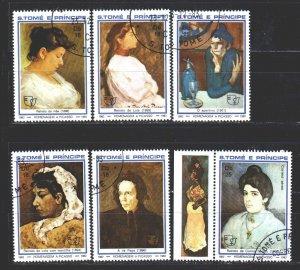 Sao Tome and Principe. 1982. 801-6. Painting, paintings. USED.