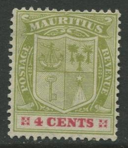 STAMP STATION PERTH Mauritius #140 Coat of Arms MNG Wmk 3 1910 CV$4.00