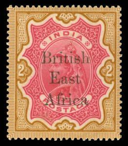 British East Africa Scott 68 Variety Gibbons 61 Variety Mint Stamp
