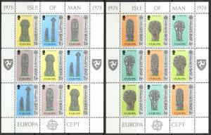 Isle of Man Sc# 133a-138a MNH Pane/9 1978 Europa