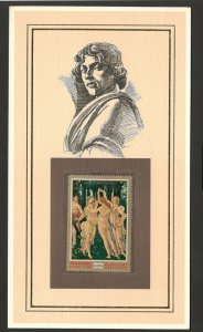 PAINTER-ART-MANAMA STAMP-CARD-SANDRO BOTTICELLI-QUALITY AS IN THE PICTURE