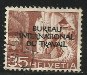 Switzerland Official 1950 Scott# 3O89 Used