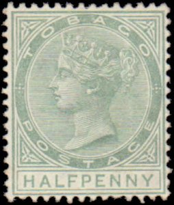 1886 Tobago #15, Incomplete Set, Hinged