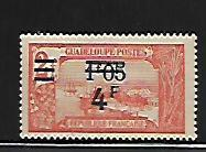 GUADELOUPE, 167, MINT HINGED, SURCHD, GRAND-TERRE