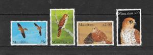 BIRDS - MAURITIUS-FALCONS #583-586  MNH
