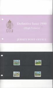 Jersey 501-4 Definitives High Value 1990 MNH, Presentation Pack