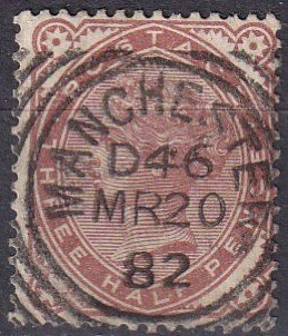 Great Britain #80  F-VF Used CV $62.50 (Z1852)