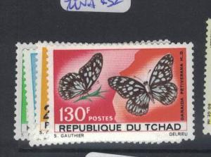 Chad Butterfly SC 139-42 MNH (8dpt)