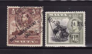 Malta 209, 218 U King George VI