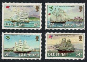 Isle of Man Manx Sailing Ships 4v SG#385-388 SC#367-370