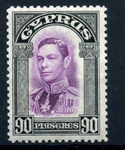 Cyprus 1938 90Pi  SG 162 fine fresh MLH