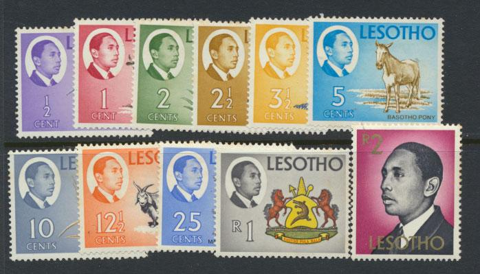 Lesotho  SG 125 - 136 (x 134) spacefillers  all small toning Mint Hinged