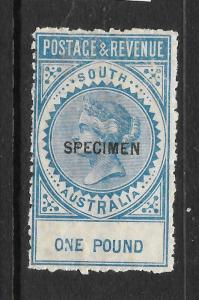 SOUTH AUSTRALIA 1886-96   1pound   QV  MNH  SPECIMEN  P11-12 1/2   SG 199as