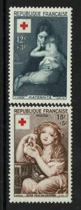 France SC# B291 and B292, Mint Hinged, Hinge Remnant - S1651