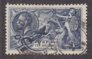 Great Britain Sc 224 used 1934 10sh dark blue Seahorses