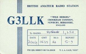 7270 Amateur Radio QSL Card  NEWBURY ENGLAND
