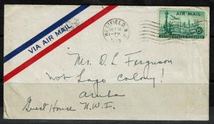 US 1948, Airmail Cover to Aruba - Lot 091317