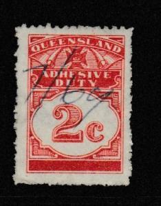 Australia Queensland #Stamps Revenue Barefoot AD61 Adhesive Duty