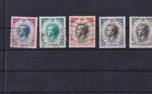 MONACO MOUNTED MINT AND USED STAMPS ON STOCK CARD REF 1078