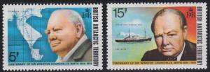 British Antarctic Territory 62-63 MNH (1974)
