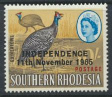 Rhodesia   SG 371 SC# 220  MH  Guinea Fowl  OPT Independence see details
