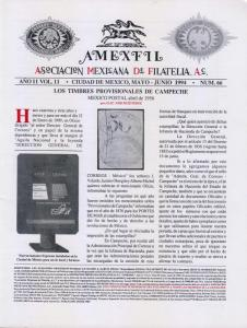 G)1994 MEXICO, AMEXFIL MAGAZINE, SPECIALIZED IN MEXICAN STAM